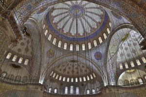 Tile Work in the Blue Mosque, Istanbul Old City, Turkey by Darrell Gulin