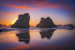 Bandon Sunset by Darren White Photography