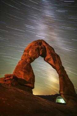 Delicate Arch Star Trails by Darren White Photography