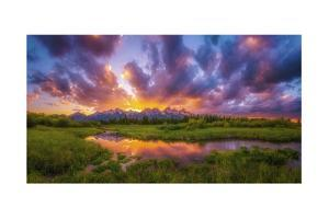 Grand Sunset in the Tetons by Darren White Photography