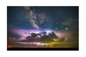 Milky Way Monsoon Print by Darren White Photography