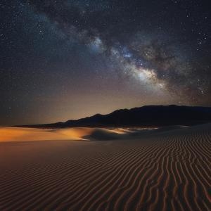 Milky Way over Mesquite Dunes by Darren White Photography