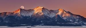 Mount Princeton Moonset at Sunrise by Darren White Photography