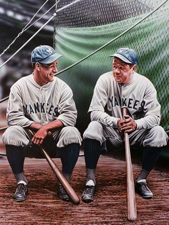 Babe Ruth and Lou Gehrig by Darryl Vlasak