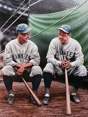 Babe Ruth and Lou Gehrig by Darryl Vlasak