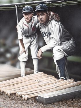 Babe Ruth and the Bat Boy by Darryl Vlasak