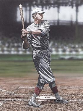 Babe Ruth as a Red Sox by Darryl Vlasak