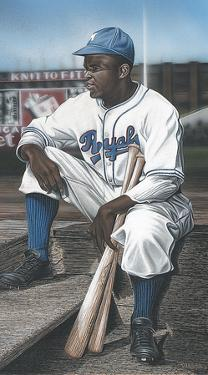 Jackie Robinson Minor League Royals by Darryl Vlasak
