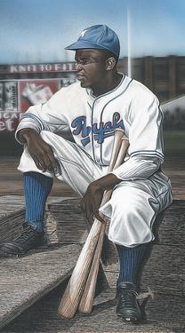 Jackie Robinson Minor League Royals by Darryl Vlasak