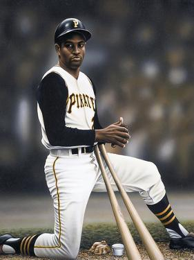 Roberto Clemente on Deck by Darryl Vlasak