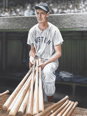 Ted Williams on Deck by Darryl Vlasak