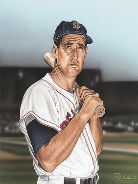 Ted williams Portrait by Darryl Vlasak