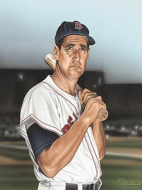 Ted williams Portrait by Darryl Vlasak