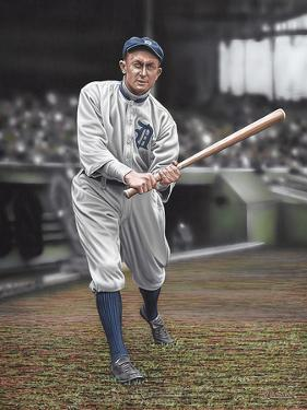 Ty Cobb Batters On Deck by Darryl Vlasak