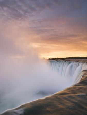 Horseshoe Falls at Sunset from Table Rock Viewpoint, Niagara Falls, Ontario