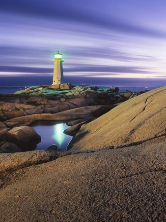 Peggy's Cove Lighthouse, Nova Scotia, Canada.