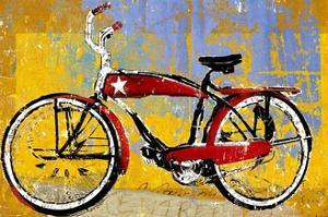 Red Bike with Star by Daryl Thetford