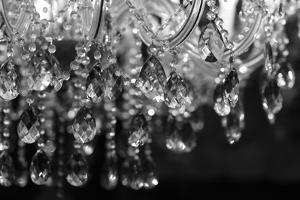 Chrystal Chandelier Close-Up. Glamour Background With Copy Space by Dasha Petrenko