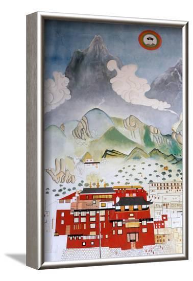 Dashang Kagyu Ling congregation, Temple of the Thousand Buddhas, La Boulaye, Bourgogne, France-Godong-Framed Photographic Print