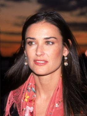 Actress Demi Moore at Debut of Talk Magazine at Liberty Island by Dave Allocca