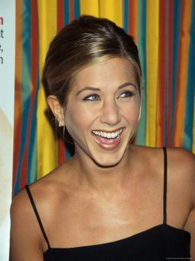 Actress Jennifer Aniston at Cosmopolitan Magazine Party by Dave Allocca