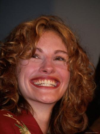 Actress Julia Roberts, Grinning by Dave Allocca