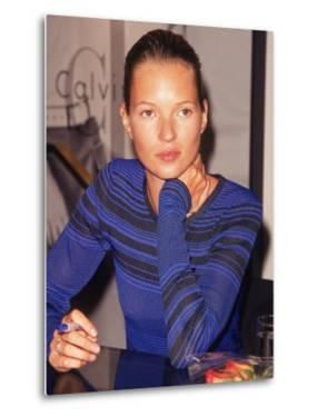Model Kate Moss Signing Autographs by Dave Allocca
