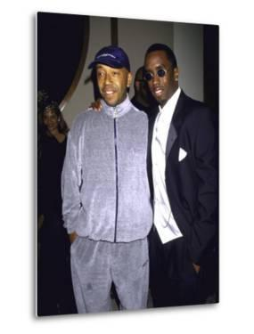 """Recording Mogul Russell Simmons and Rap Artist Sean """"Puffy"""" Combs by Dave Allocca"""
