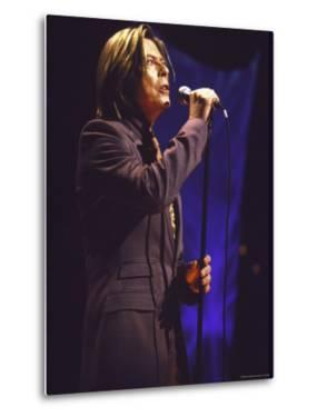 Singer David Bowie Performing by Dave Allocca