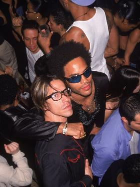 Singers Anthony Kiedis and Lenny Kravitz by Dave Allocca