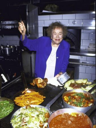 Television Cooking Expert Julia Child at Opening of Restaurant Eatzi's by Dave Allocca
