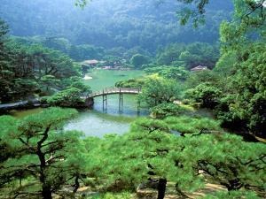 Ritsurin Park, Takamatsu, Shikoku, Japan by Dave Bartruff