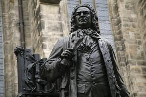 Statue of J. S. Bach, Courtyard of St. Thomas Church, Leipzig, Germany by Dave Bartruff
