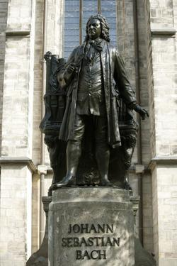 Statue of J. S. Bach on Grounds of St. Thomas Church, Leipzig, Germany by Dave Bartruff
