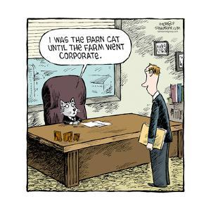 Speed Bump™ - I was the barn cat until the farm went corporate. by Dave Coverly