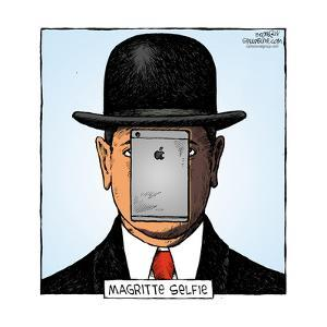 Speed Bump™ - Magritte selfie. by Dave Coverly