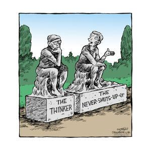 Speed Bump™ - The Thinker. The Never-Shuts-Up-er. by Dave Coverly