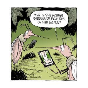 Speed Bump™ - Why is she always sending us pictures of her meals? by Dave Coverly