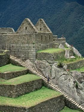 Ruins at Machu Picchu by Dave G. Houser
