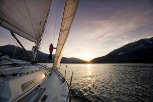 Sailing on Kootenay Lake, British Columbia, Canada by Dave Heath