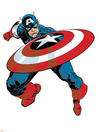 Captain America V4, No.27 Cover: Captain America by Dave Johnson