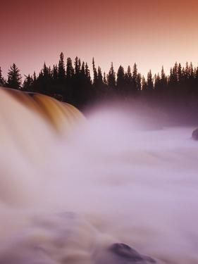 Pisew Falls, Pisew Falls Provincial Park, Manitoba, Canada. by Dave Reede