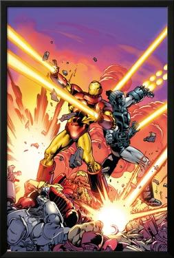 Iron Man #258.4 Cover Featuring Iron Man, War Machine by Dave Ross