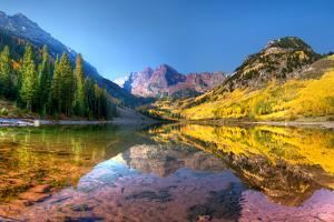 Maroon Bells in Fall by Dave Soldano Images