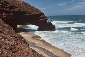 Natural Stone Arch at Legzira Plage, Morocco by Dave Stamboulis Travel Photography