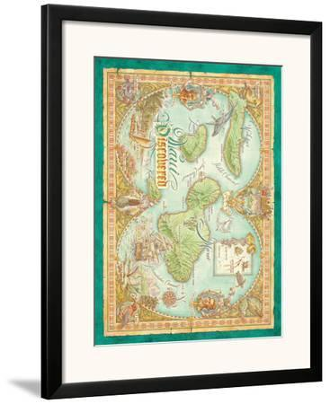 Maui Discovered, Vintage Map of Maui, Hawaii