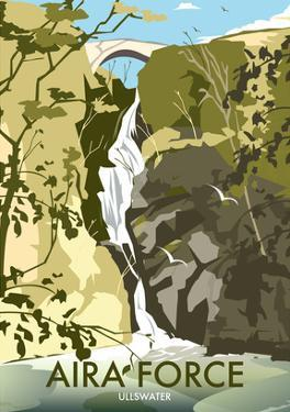 Aira Force, Lake District - Dave Thompson Contemporary Travel Print by Dave Thompson