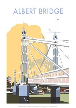 Albert Bridge - Dave Thompson Contemporary Travel Print by Dave Thompson