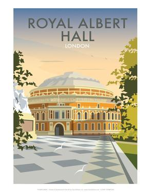 Albert Hall - Dave Thompson Contemporary Travel Print by Dave Thompson