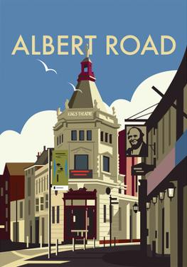 Albert Road - Dave Thompson Contemporary Travel Print by Dave Thompson